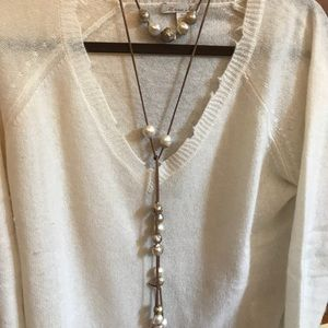 Blesk Boutique Palm Beach Baroque Pearl lariat